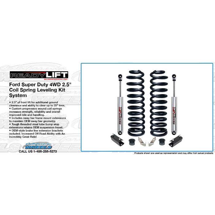 ReadyLift Ford Super Duty 4WD 2.5 in. Coil Spring Front Lift Kit System - 2011-15