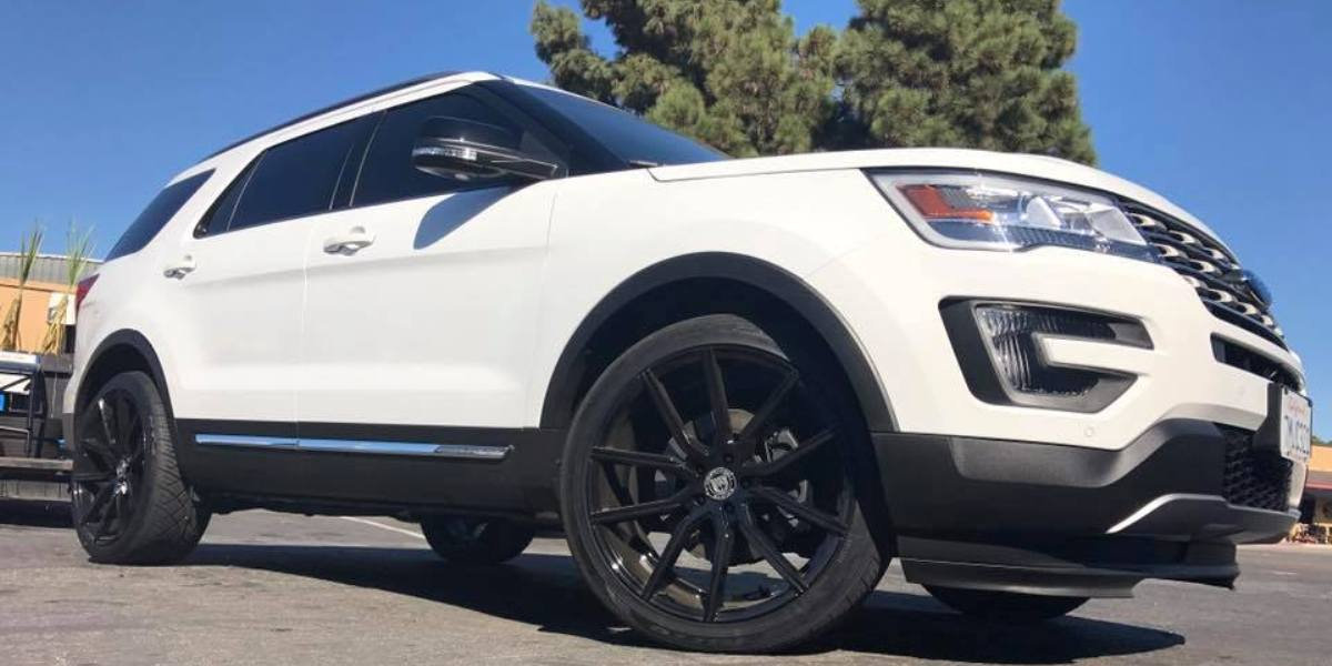Ford Explorer Black Rims >> Car Ford Explorer On Lexani Gravity Wheels California Wheels