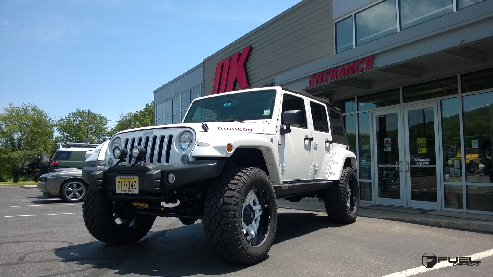 Car Jeep Wrangler On Fuel 2 Piece Full Blown D255 Wheels With