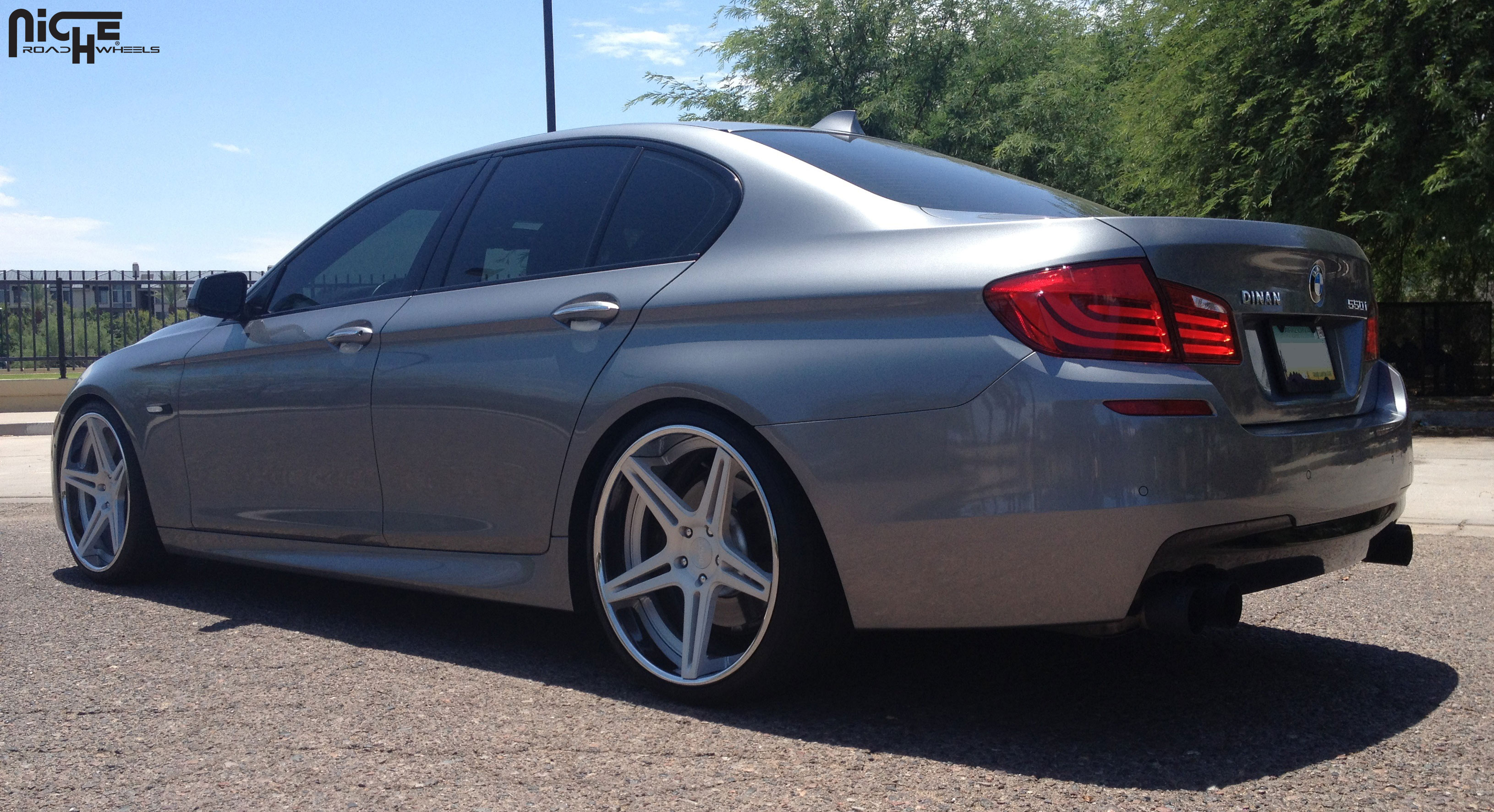 Car BMW Series On Niche Forged Sportiva Wheels California Wheels - Bmw 550i sport package