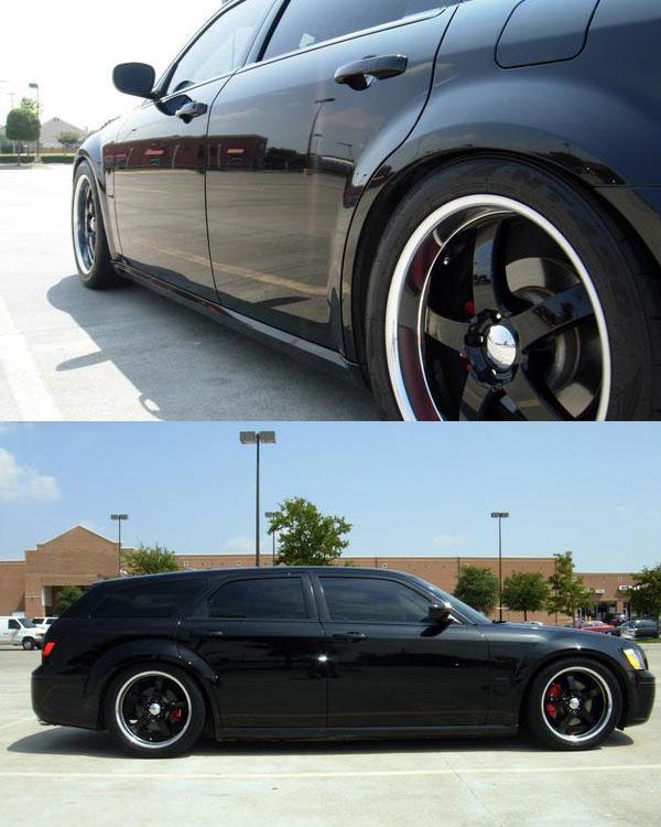 Car   Dodge Magnum on Boss Motorsports 335 Wheels   California Wheels