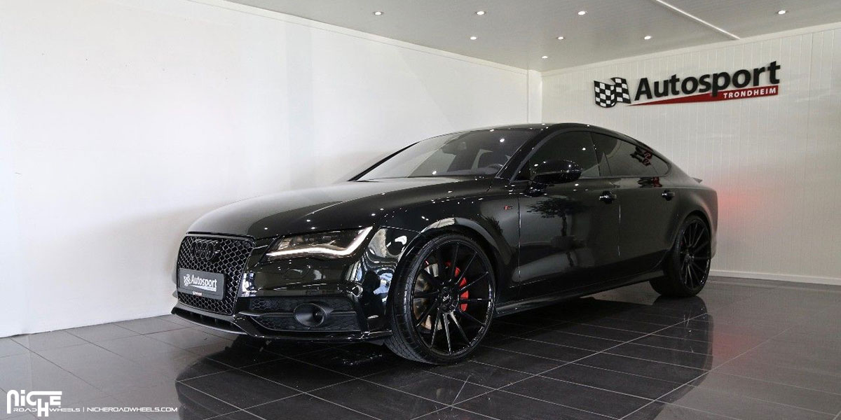 Car Audi A7 On Niche Sport Series Surge M112 Wheels California Wheels