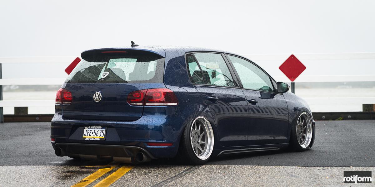 Car | Volkswagen GTI on Rotiform OZT Wheels | California Wheels