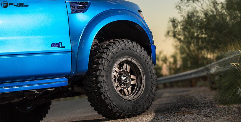 Car Ford F 150 Raptor On Fuel 1 Piece Anza D558 Wheels