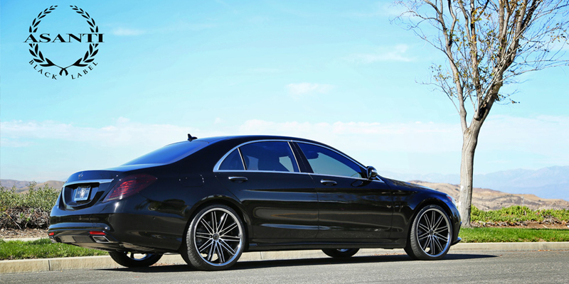 Car Mercedes Benz 550e On Asanti Black Abl 10 Wheels