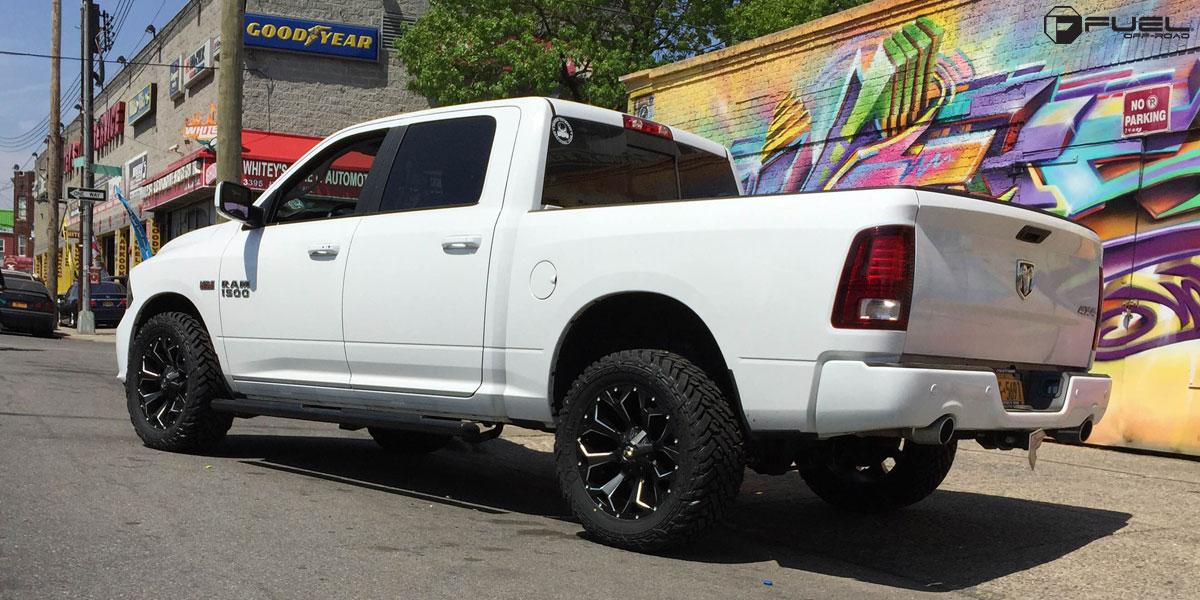 Car Dodge Ram 1500 On Fuel 1 Piece Assault D546 Wheels