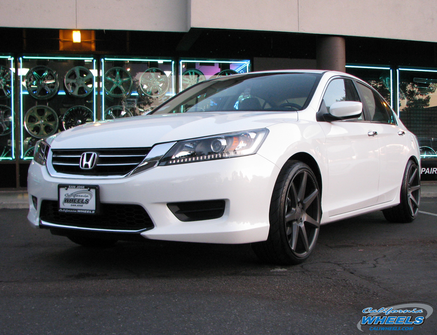 Car Honda Accord On Vossen Cv7 Wheels California Wheels