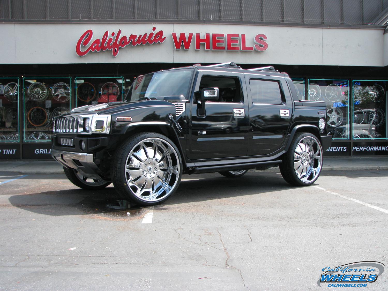 Car Hummer H On Asanti Da Wheels California Wheels