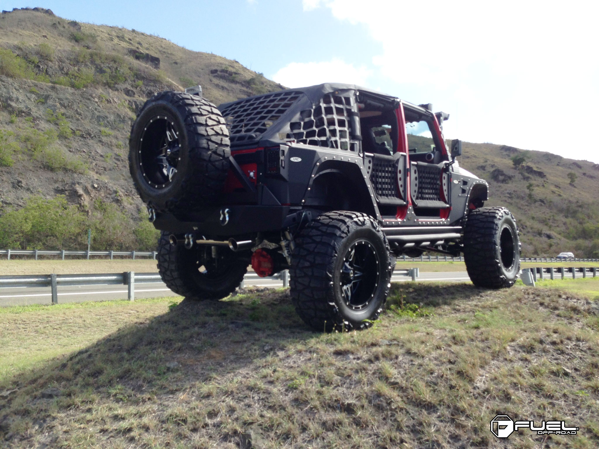 Car Jeep Wrangler On Fuel 2 Piece Full Blown D254 Wheels With