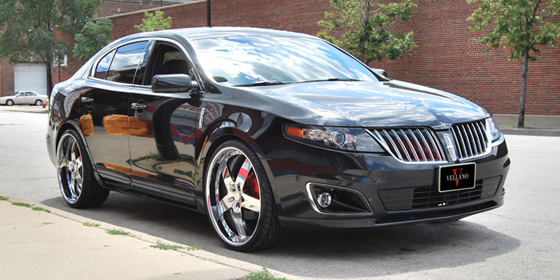 Car Lincoln Mks On Vellano Vsk Wheels California Wheels