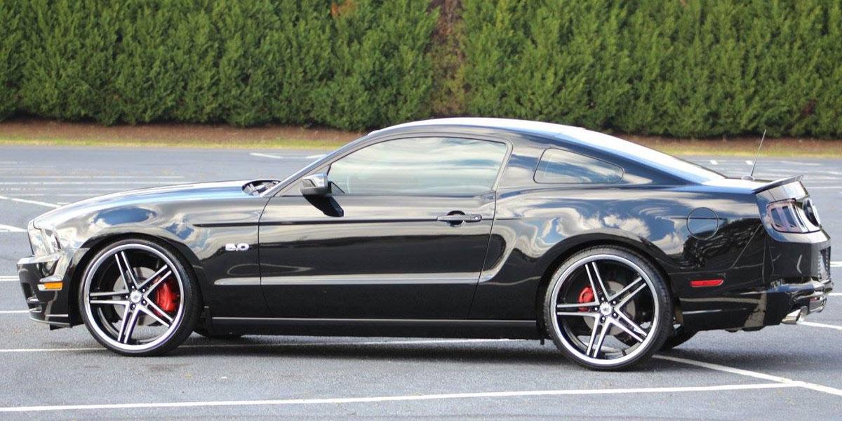 Car Ford Mustang On Asanti Black Abl 7 Wheels