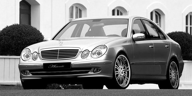 Car Mercedes Benz E500 On Asanti Forged A F Series Af128 Wheels California Wheels