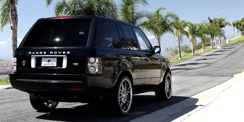 car land rover range rover on asanti da163 wheels california wheels