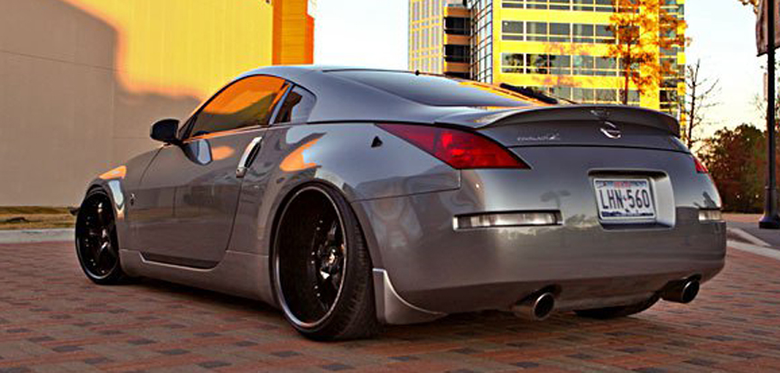 Car Nissan 350z On Forgiato Quinto Wheels California