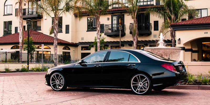 Car Mercedes Benz S550 On Asanti Black Abl 1 Wheels