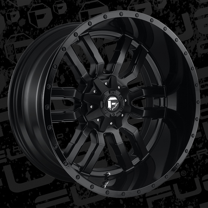 Fuel 1 Piece Wheels Sledge D596 Wheels California Wheels