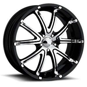 288-289 Gripp 5 Gloss Black with Machined