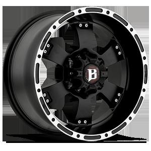 815 6 Flat Black w/ Machined Lip