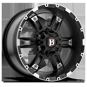816 6 Flat Black w/ Machined Lip
