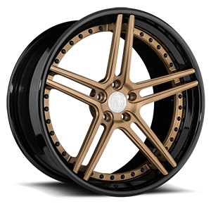 AGL15 5 Matte Brushed Antique Bronze with Gloss Black Lip