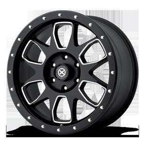 AX196 6 Satin Black Milled