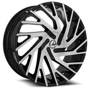 AZA-505 5 Gloss Black Machined