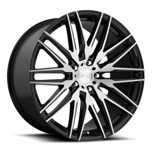 Anzio - M165 5 Gloss Black & Brushed 22x10.5