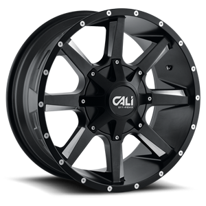 Busted 6 Satin Black Milled Spokes