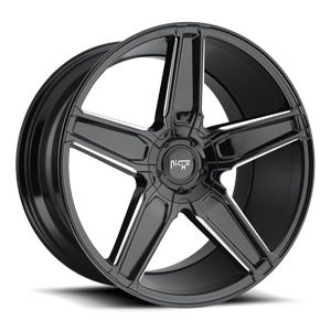 Cannes - M180 5 Gloss Black & Milled 20x10.5
