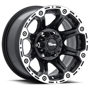 Torque 6 Flat Black with Machined Outer Lip and Satin Clear
