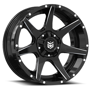 DS647 5 Black with Milled Spokes
