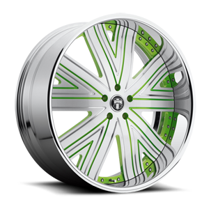 Draft - X88 5 Brushed Face w/ Green Accents and Chrome lip