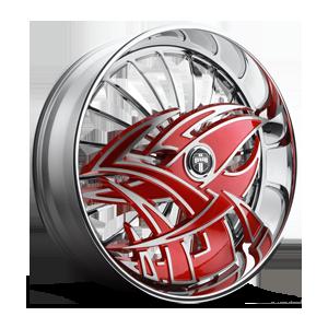 S607-Razz 5 Red w/ chrome accents