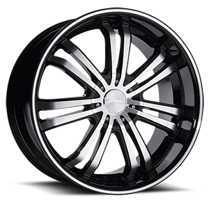 20 inch wheels california wheels 1970 Ford LTD devine 5 black with machined lip