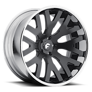 DITO-ECL 5 Smoke Satin Cut-Spoke Center, Chrome Lip