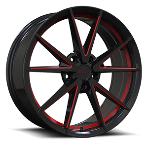Envy 10 5 Gloss Black Red Undercut Red Mill Side