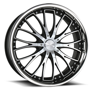 22 inch wheels california wheels 1961 Impala Convertible titanium eminence 5 matte black machined ss lip