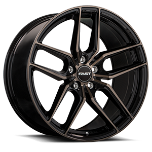 Aristo 5 Gloss Black with Machined Face and Smoked Clear - Deep