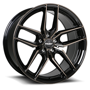 Aristo 5 Gloss Black with Machined Face and Smoked Clear - 48086