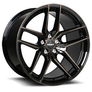 Aristo 5 Gloss Black with Machined Face and Smoked Clear - 48087