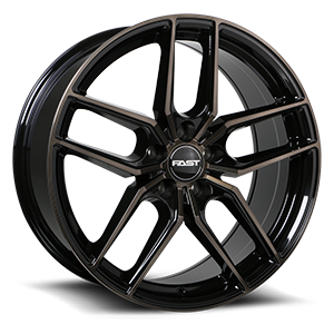 Aristo 5 Gloss Black with Machined Face and Smoked Clear - 48088