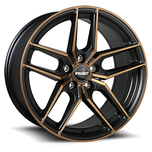 Aristo 5 Satin Black with Machined Face and Bronze Clear - 48089