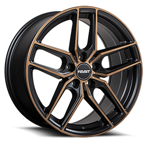 Aristo 5 Satin Black with Machined Face and Bronze Clear Flat