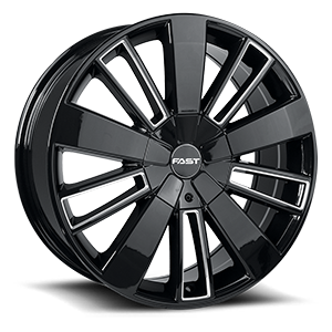 Entourage 5 Gloss Black with Milled Trim