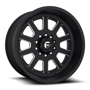 FF09D - 10 Lug Super Single Front 10 Matte Black & Milled