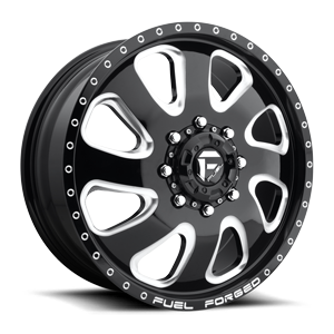 FF12 - Dually Front 20 x 8.25 Forged 8 Gloss Black & Milled