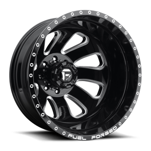 FF12 - Dually Rear 20 x 8.25 Forged 8 Gloss Black & Milled