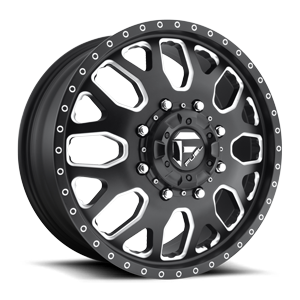 FF19 - Dually Front 20 x 8.25 Forged 8 Matte Black & Milled