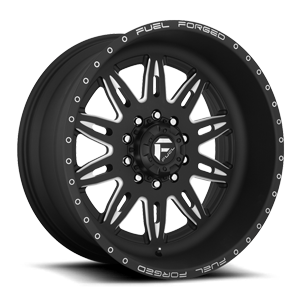FF26D - 10 Lug Super Single Front 10 Matte Black & Milled