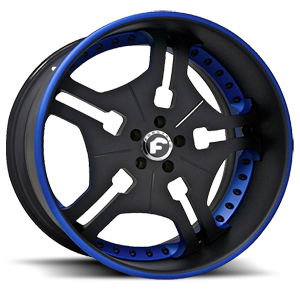 FIA 5 Black/Blue Center, Black/Blue Lip